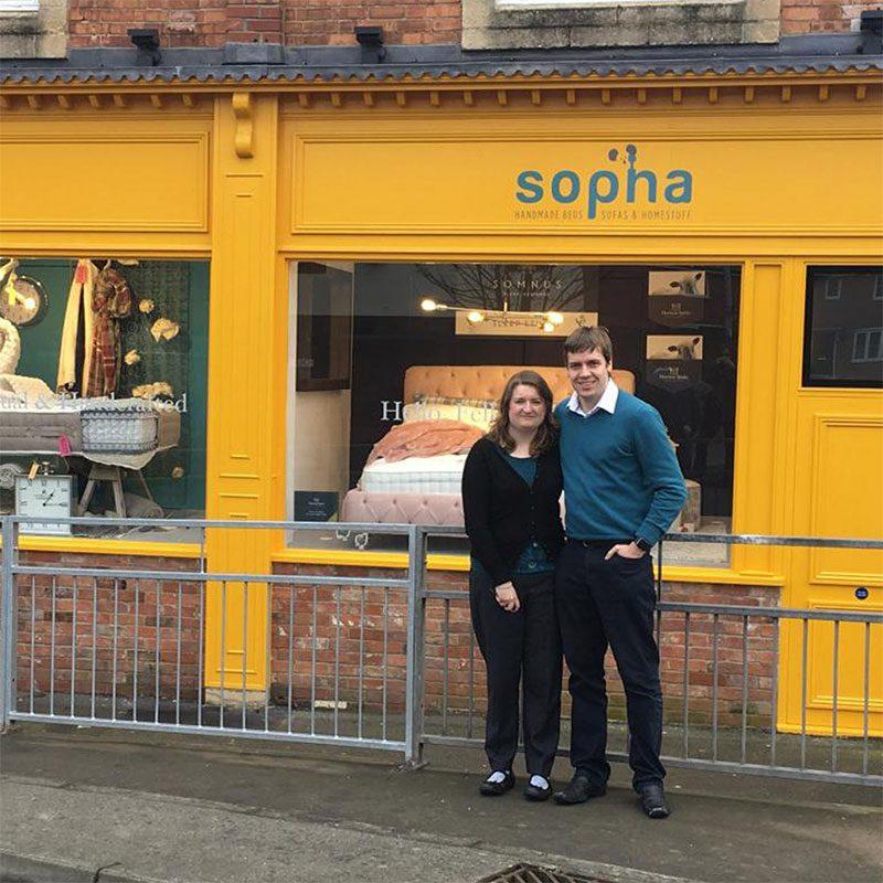 Sopha Matt and Emily Scott