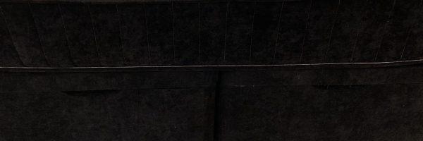 Black headboard sopha bed