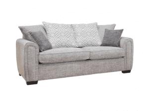 Galaxy 3 seater pillow back sofa