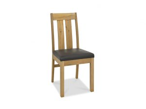 Sopha Avocado Slatted Chair Faux Leather Seat