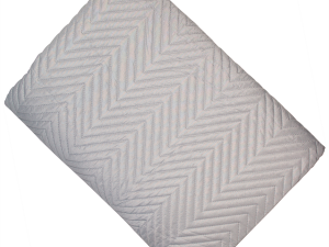 Chevron Grey Quilt Throw 200 x 230