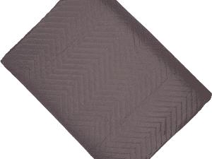 Chevron Slate Grey Quilt Throw 200 x 230