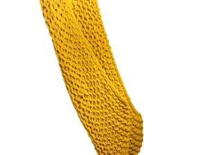 Chunky Knit Knitted Throw Mustard W110 / H150