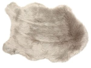 Koala Grey Faux Soft Sheepskin Rug 60 x 90