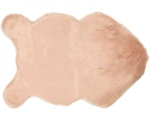 Koala Pink Soft Faux Sheepskin Rug 60 x 90