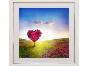 Love Meadow Pink Heart Tree Landscape W50 x H50