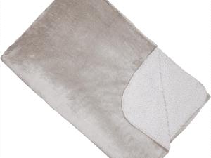 Shetland Fleece Grey Soft Sumptuous Throw Blanket 150 x 200