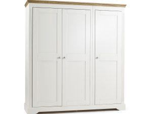 Elderflower 3 Door Triple Full Length Wardrobe