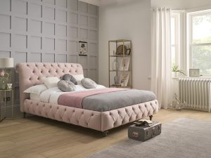 chelsea buttoned bedframe