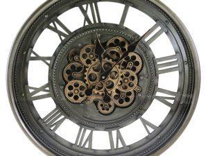 Anna vintage Roman numeral cog wheel wall clock