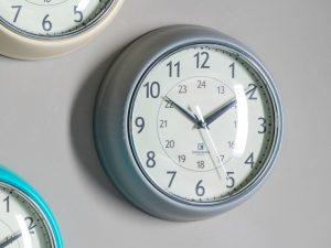 auckland slate grey wall clock W24 D7 H24
