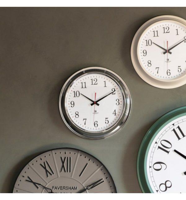 Bucharest Chrome Wall Clock W41 D8 H41