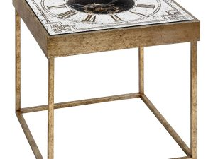 Industrial Square Roman Numeral Cog Clock Table W51 D51 H51