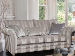 Large standard back sofa and wing back chair