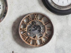 New York Wooden Cog Wall Clock W34.5 D5 H34.5