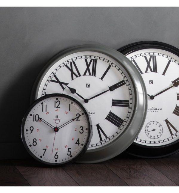 Paris Light Grey Roman Numeral Wall Clock W52 D9 H52