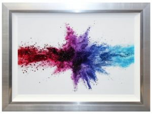 Sopha Collide Framed Liquid Art Multicoloured Print