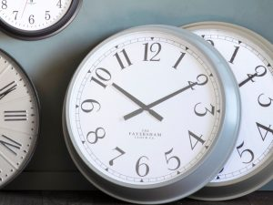 Zurich fossil grey wall clock W68 D11 H68
