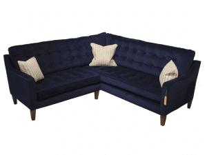 Madeira corner sofa in Amalfi Dark Blue Velvet