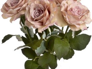 pink garden rose bunch