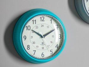 Auckland clock Kingfisher blue