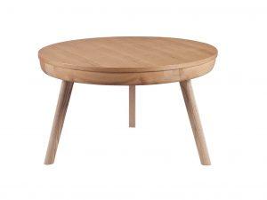 Zest lemon coffee table in oak ash finish