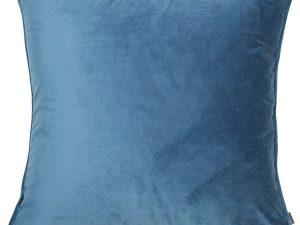 classic blue velvet cushion