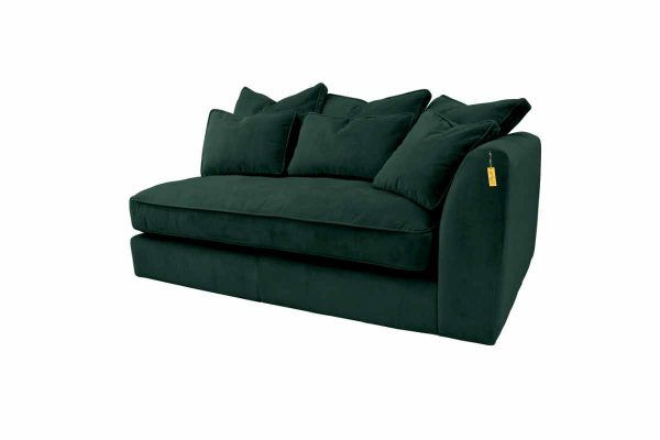 Gateaux Modular RHF 1 Seat 1 arm Corner Sofa Module in Malta Jasper Velvet