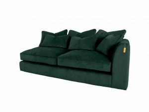 Gateaux Modular RHF 2 Seat 1 arm Corner Sofa Module in Malta Jasper Velvet