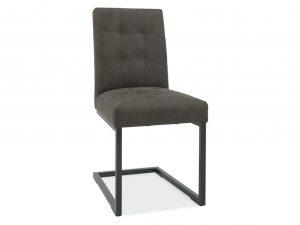 Sopha Tarragon Cantilever Chair Dark Grey Fabric