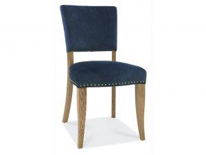 Tarragon Chair - Upholstered Chairs - Dark Blue Velvet