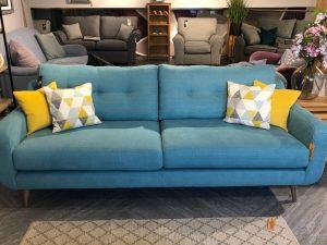 banoffee extra large sofa in zenith aqua