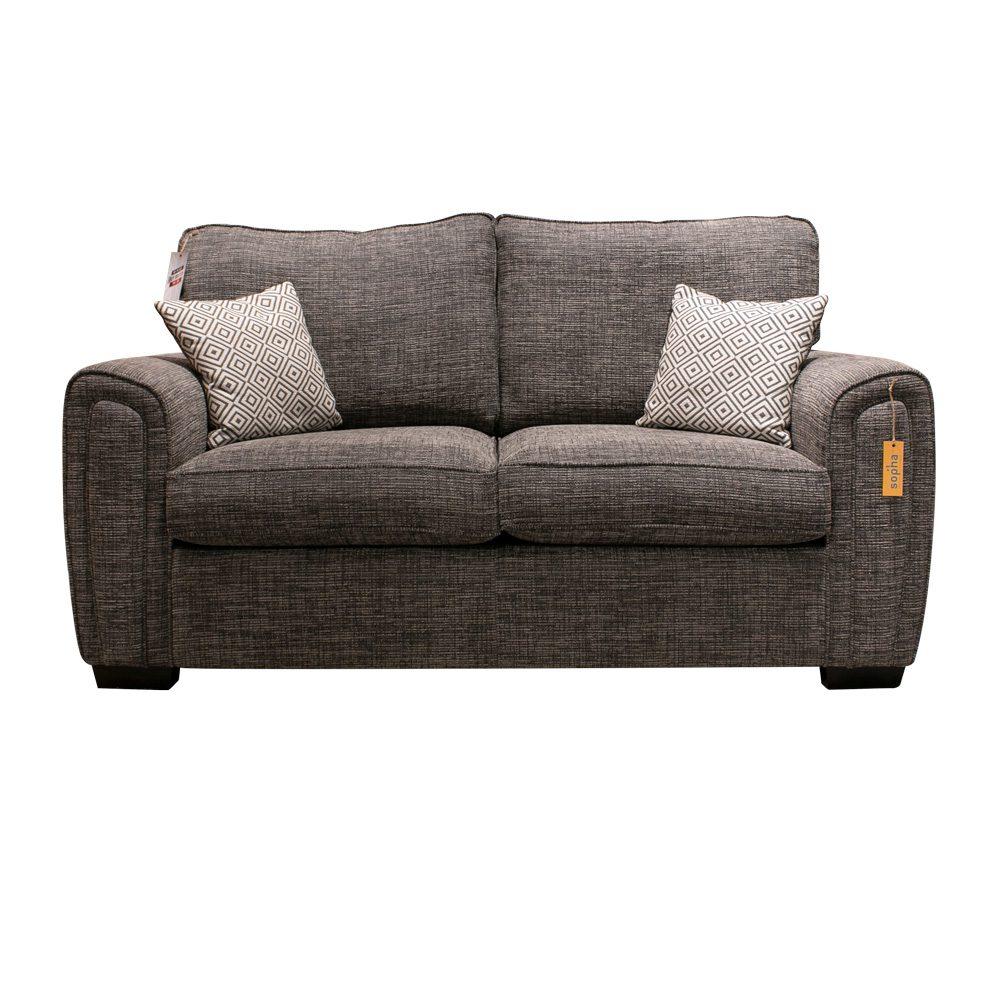 Galaxy 2 Seater Sofa Charcoal