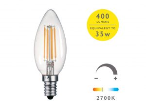 E14 Warm White 400LM Candle - Details