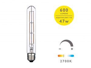 E27 Warm White 600LM 19cm Tube - Details