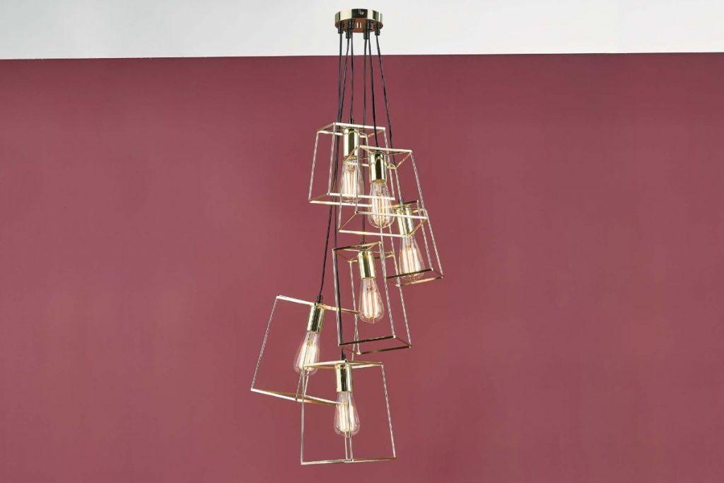 Eleanor Gold 6 Light Cluster Pendant Lifestyle