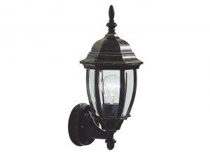 Epifanio IP43 Black Gold Wall Lantern