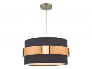 Navy Blue with Copper Band Easy Fit Shade On