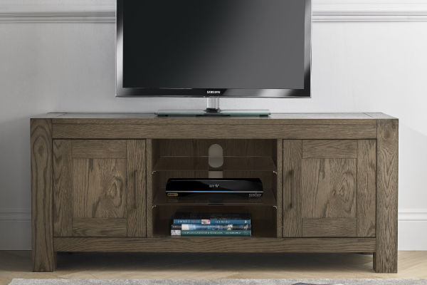 Sopha Avocado dark oak entertainment unit display
