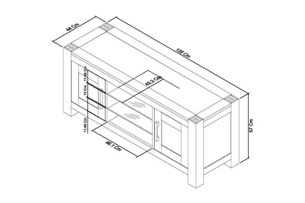 Sopha Avocado dark oak entertainment unit measurements