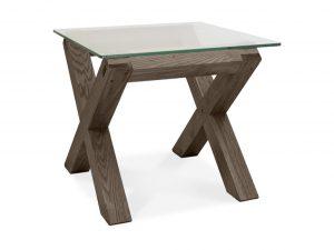 Sopha Avocado dark oak glass lamp table