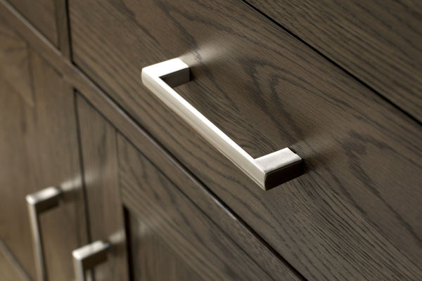 Sopha Avocado dark oak narrow sideboard metal handles