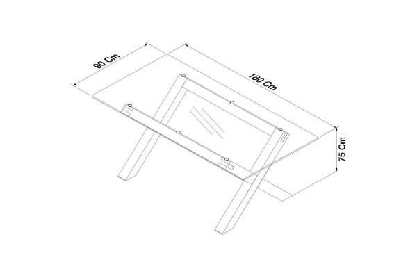 Sopha Avocado light oak glass top dining table measurements