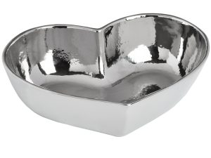 Sopha Silver Heart Dish W20 D7 H25 Weight 0.30kg