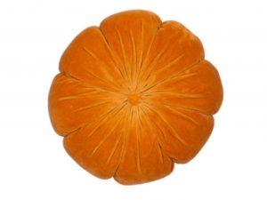Sopha Orange velvet flower cushion
