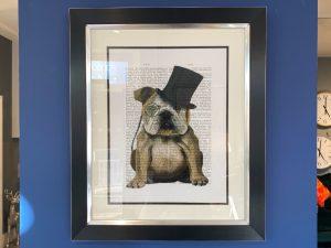 Benson bulldog framed print