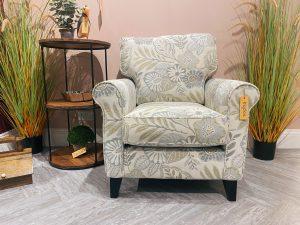 Sopha Rum 'N' Raisin Sage Floral Chair